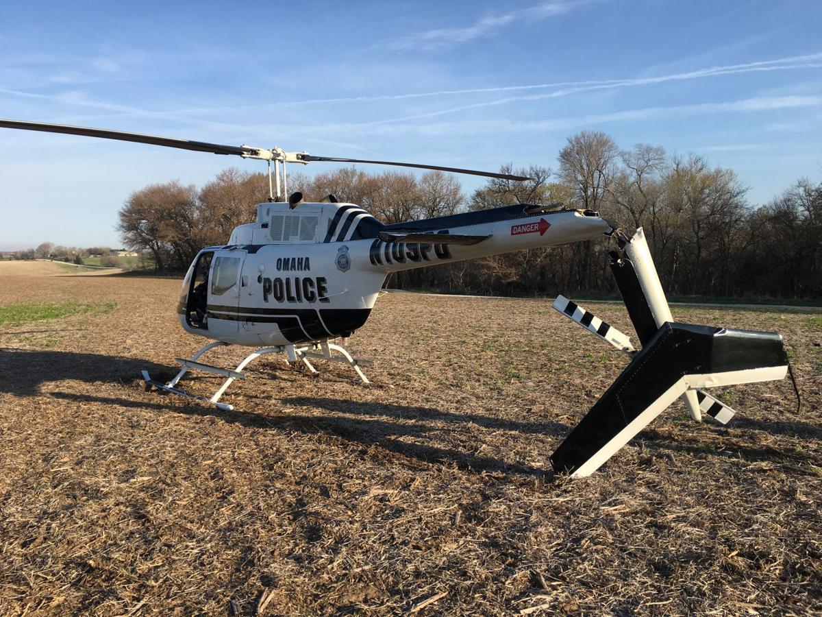 Police helicopter damaged