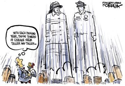 Jeff Koterba's latest cartoon: Towers of courage