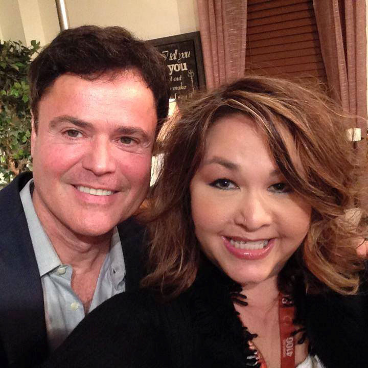 Janet Lura with Donny Osmond