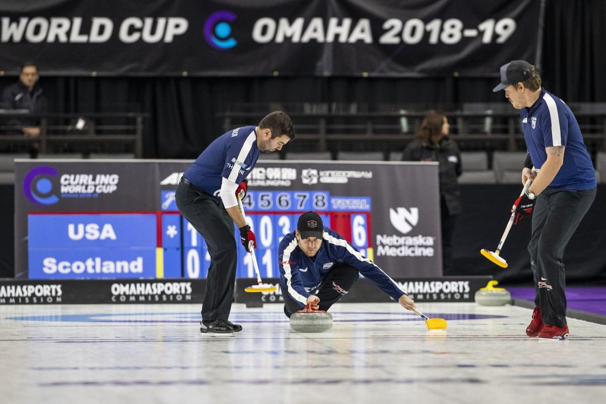 It's got a nice pace:' Curling World Cup at Ralston Arena