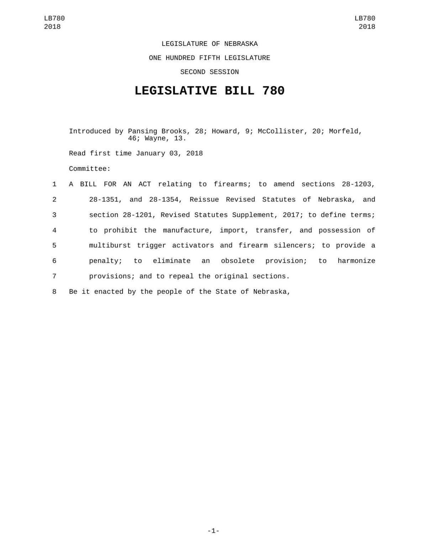 Read Legislative Bill 780
