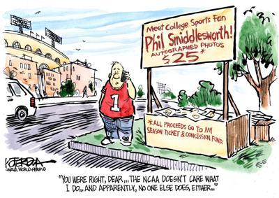 Jeff Koterba's latest cartoon: No pay for popcorn