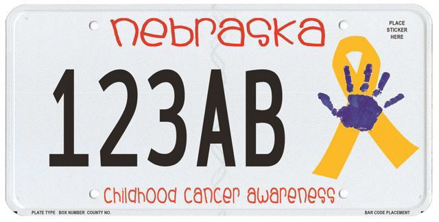 mom says specialty license plates with son's handprint are for all