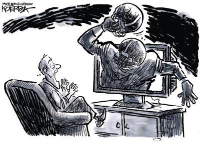 Jeff Koterba's latest cartoon: Beyond shocking