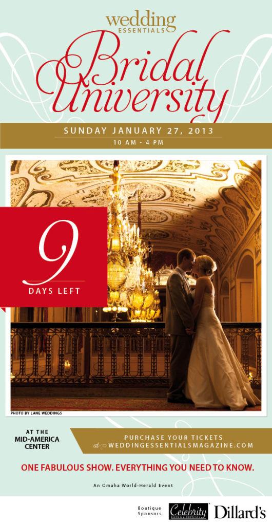 9 days left until Wedding Essentials Bridal University 2013!