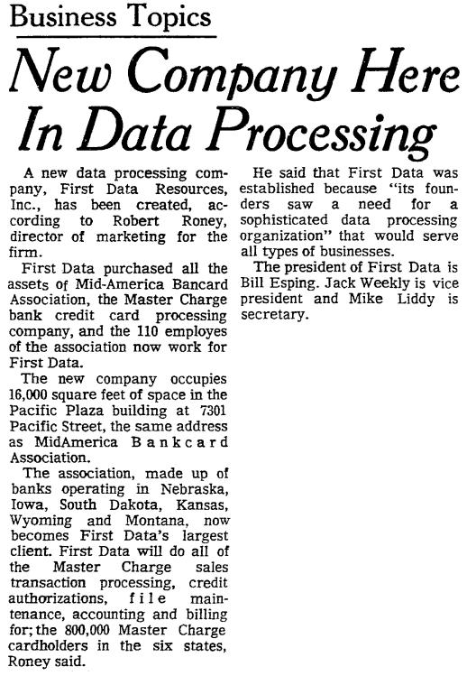 First Data 1971