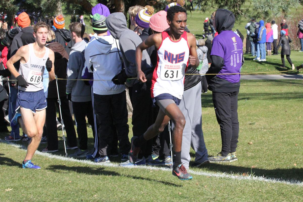 Sioux City North's Merga Gemeda finishes fifth at state cross country meet