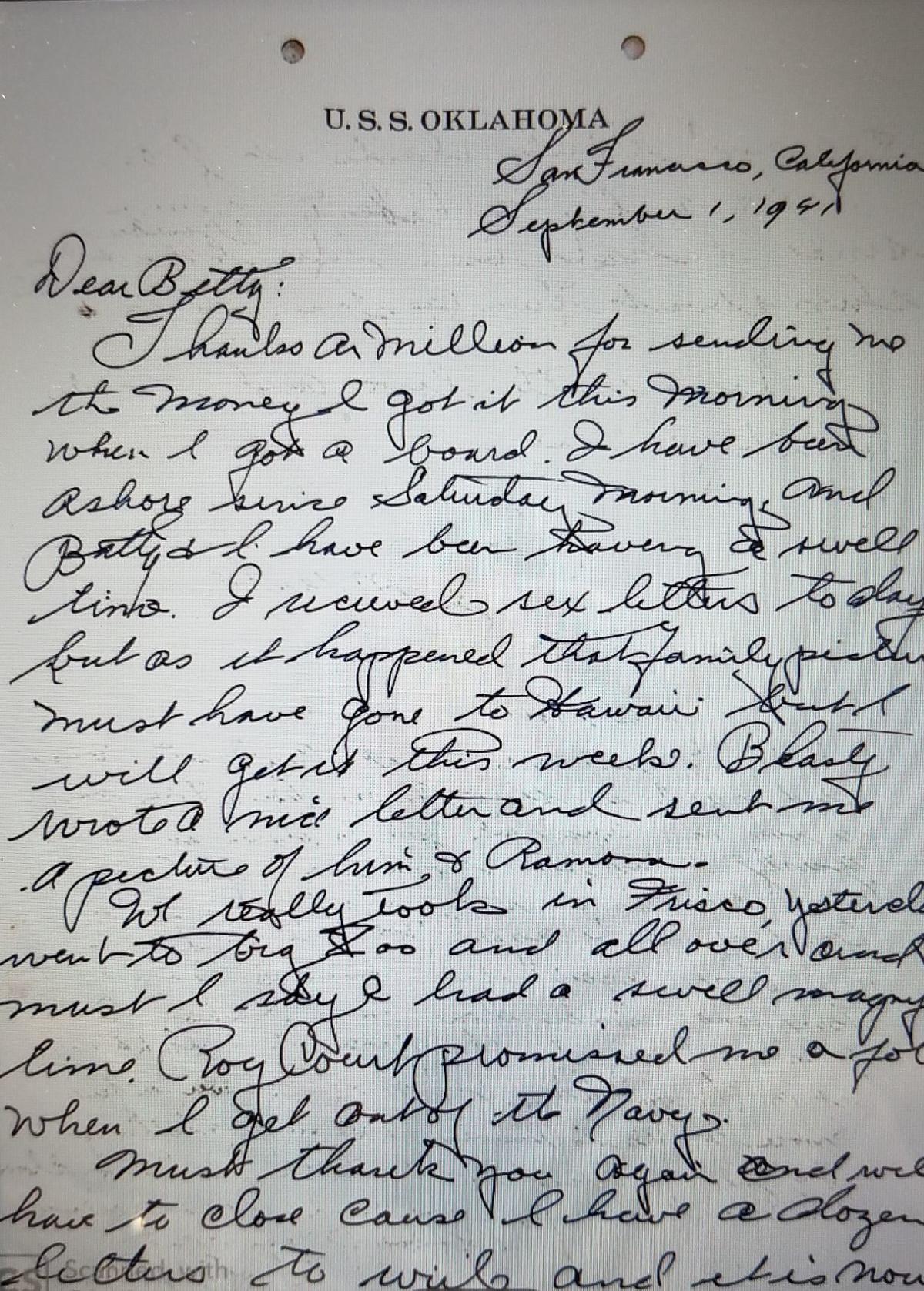 Joe Maule Letter pg 1