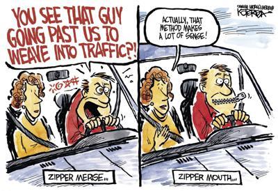 Jeff Koterba's latest cartoon: Zip a Dee Doo or Don't?