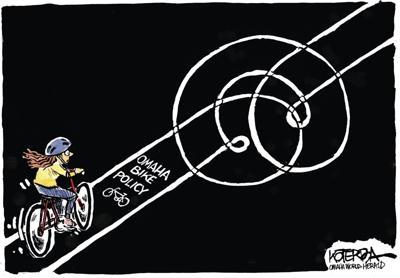 Jeff Koterba's latest cartoon: Life in the bike lane