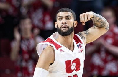 Four Huskers score in double figures to lead Nebraska men's basketball in upset over Iowa