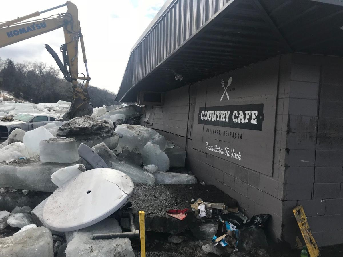 Country Cafe Niobrara flooding ice