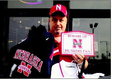 Big Husker fan finally gets chance to see Big Red in person