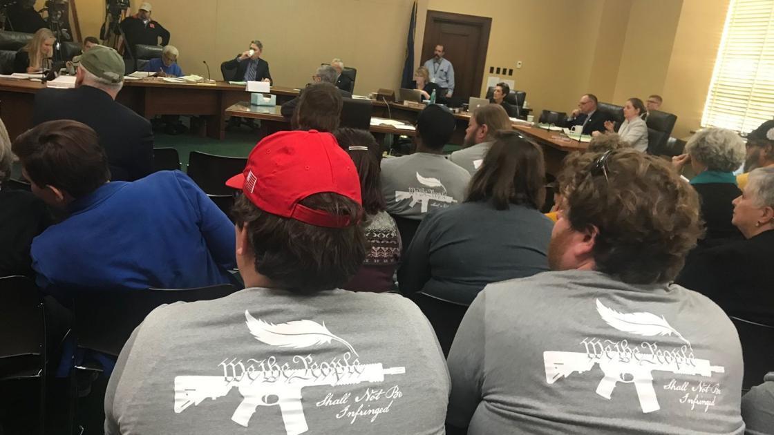 Proposed Nebraska gun restrictions: Gun rights crowd, extra law enforcement fill hearing