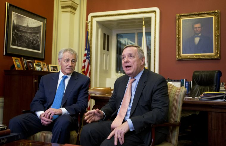Hagel meeting one-on-one with key players in confirmation battle