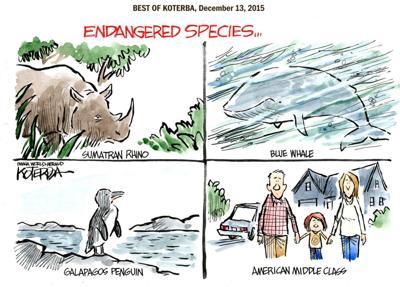 Best of Jeff Koterba's cartoons: Endangered species