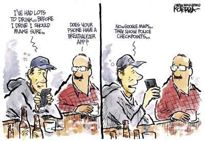 Jeff Koterba's latest cartoon: Take the keys AND the phone…