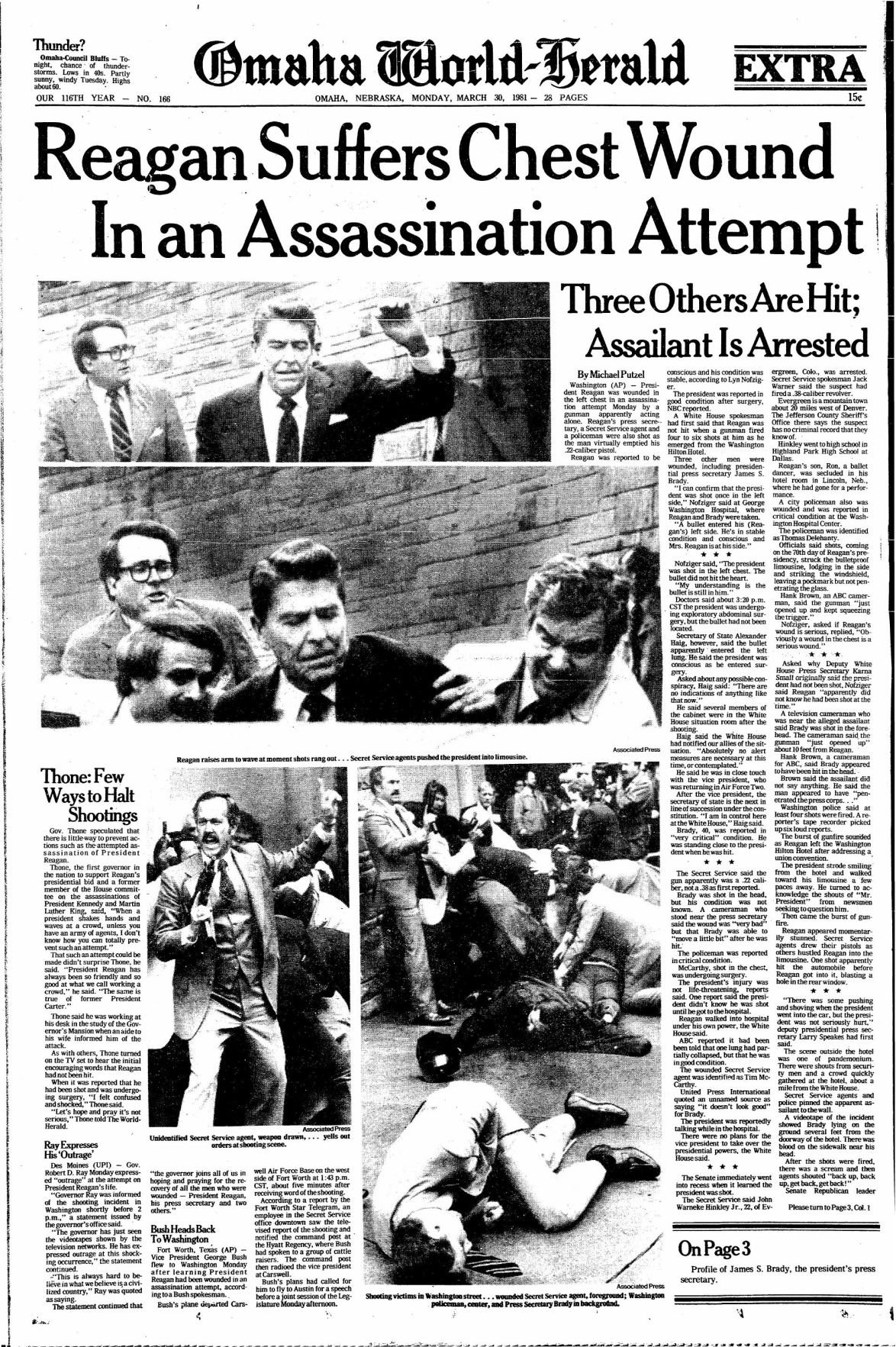 Archived pages: Reagan assassination attempt | | omaha.com