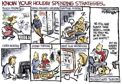 Jeff Koterba's latest cartoon: Time to map out your strategies