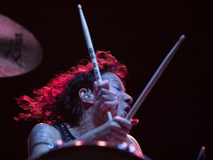 Matt and Kim's Kim Schifino might have torn her ACL (again) last night in Omaha