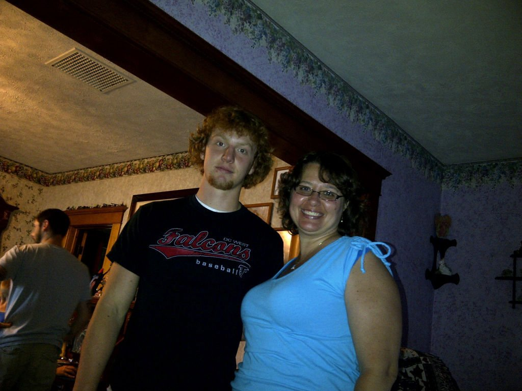 Jacob Dickmeyer and his mother, Tracy Graber