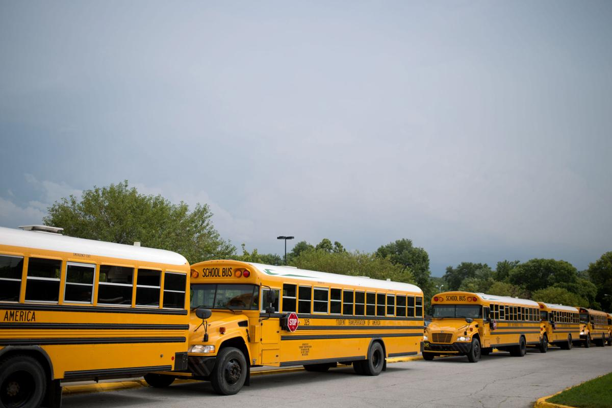 Buses at Burke