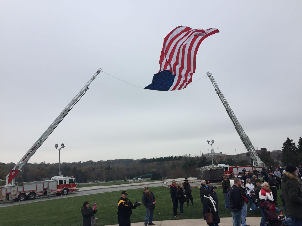 American flag flies at Memorial Park