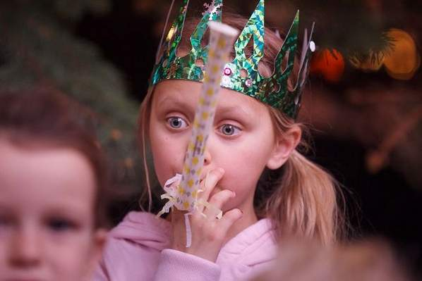 Kids celebrate New Year with a bang and a pop, pop, pop