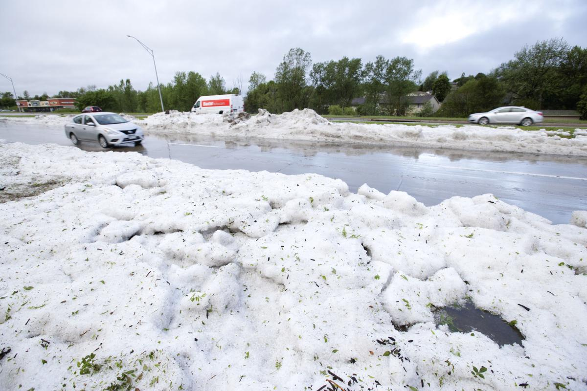 Another hail pile photo