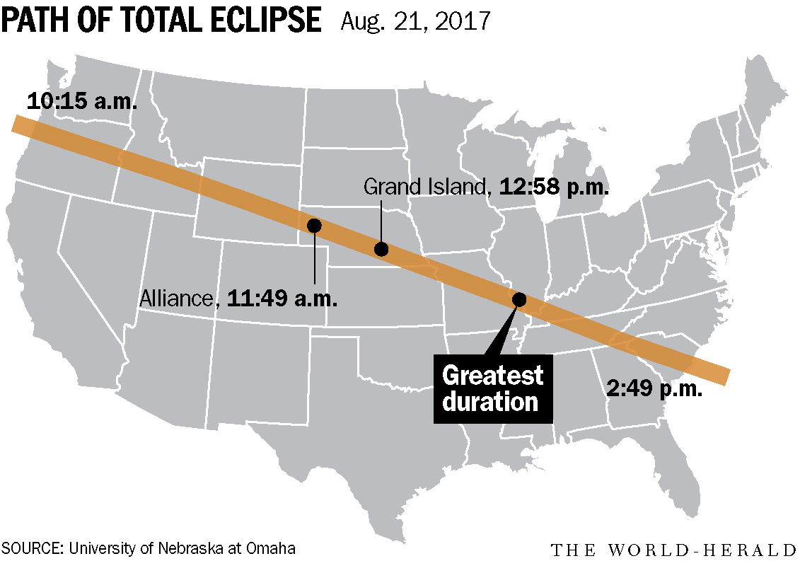 In One Year Swath Of Nebraska Will Be Under Moon S Shadow