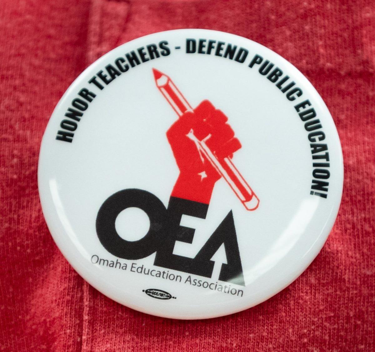 Omaha Education Association button