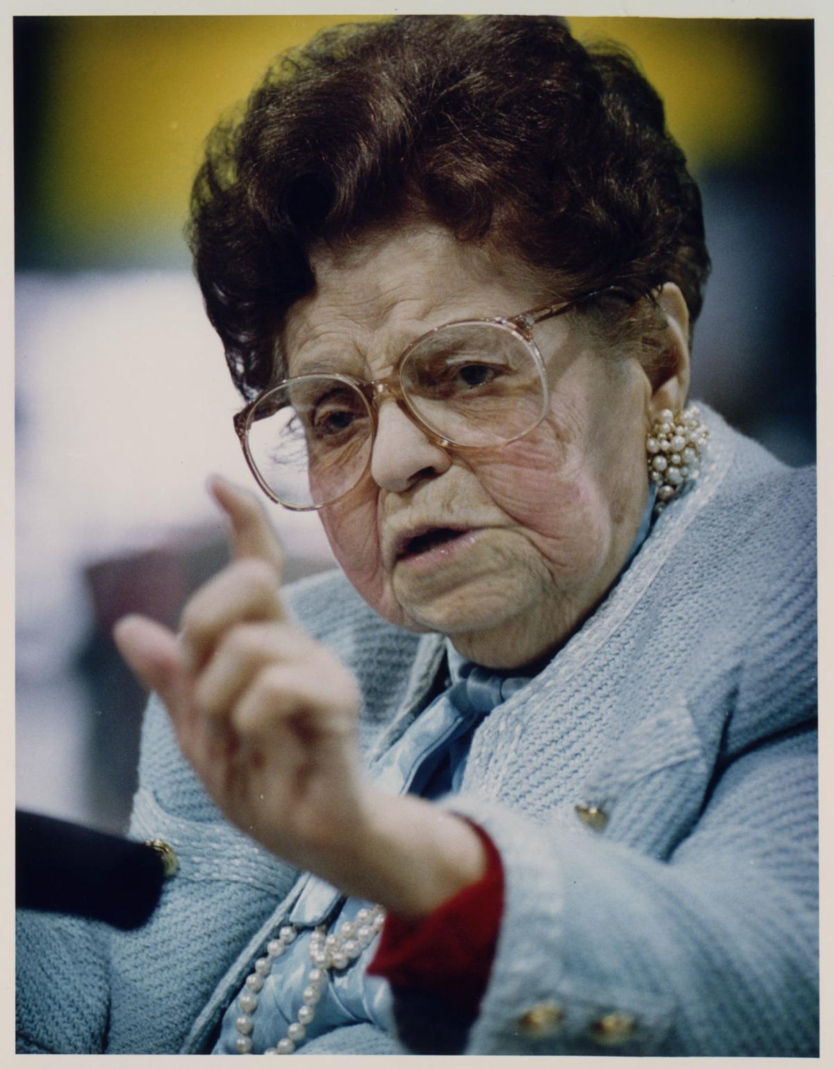 MRS. B. ROSE BLUMKIN AT 100.