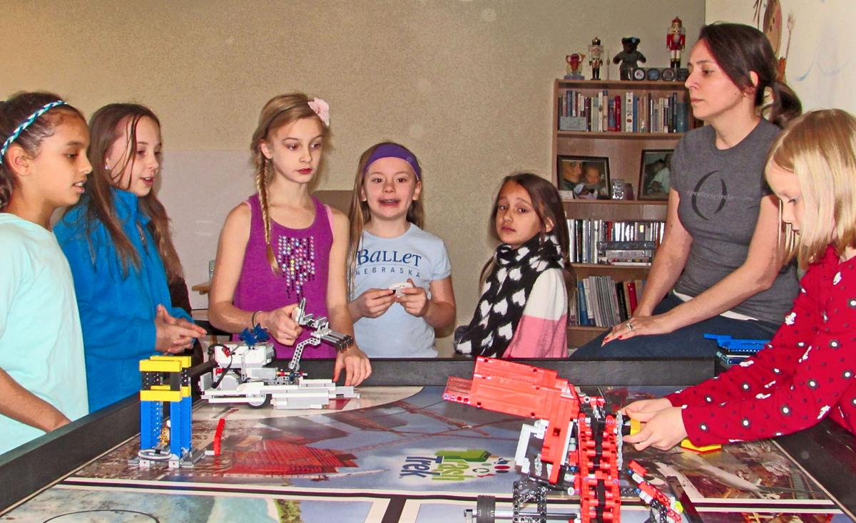 Closing the gender gap Bellevue girls qualify for state robotic competition
