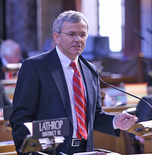 Sen. Lathrop passes on Democratic bid for governor