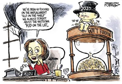 Jeff Koterba's latest cartoon: Ka-chinging in the New Year