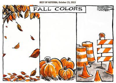 Best of Jeff Koterba's cartoons: Seasonal colors