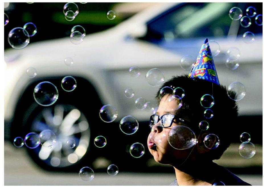 LIKE THESE BUBBLES, TEMPS ARE FLOATING UP AND UP AND ...
