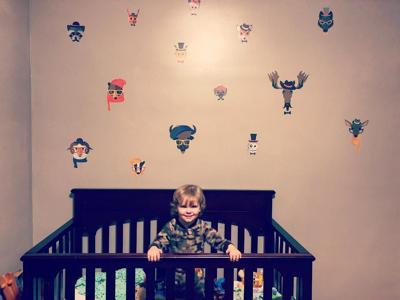 Elliott Coffey in his crib