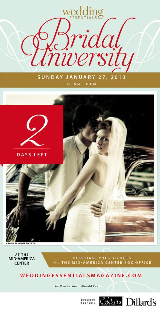 2 days left until Wedding Essentials Bridal University 2013!