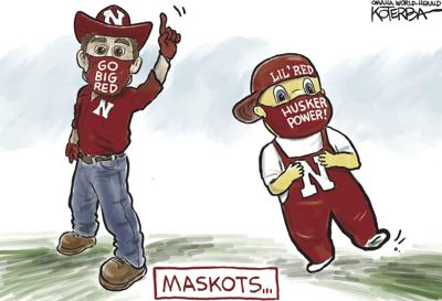 Jeff Koterba's latest cartoon: Huskers cheer for safety