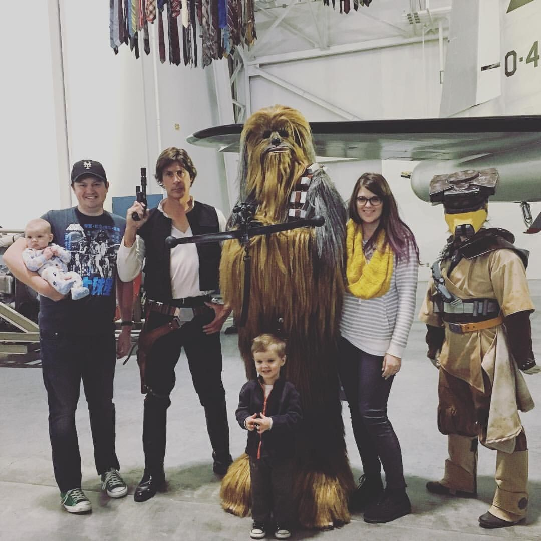 Coffey family Star Wars photo
