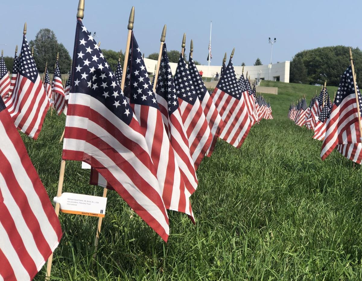 Sept. 11, 2021, Memorial Park flags (copy)
