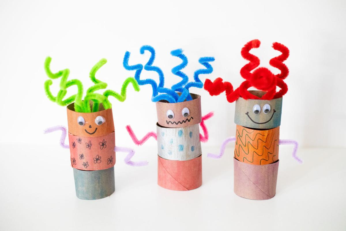 Paper toilet roll robots