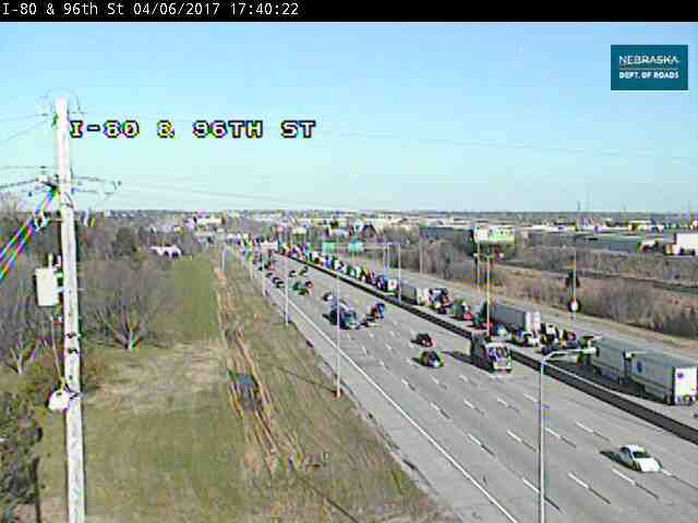 Crash ties up eastbound I-80 traffic near 84th Street