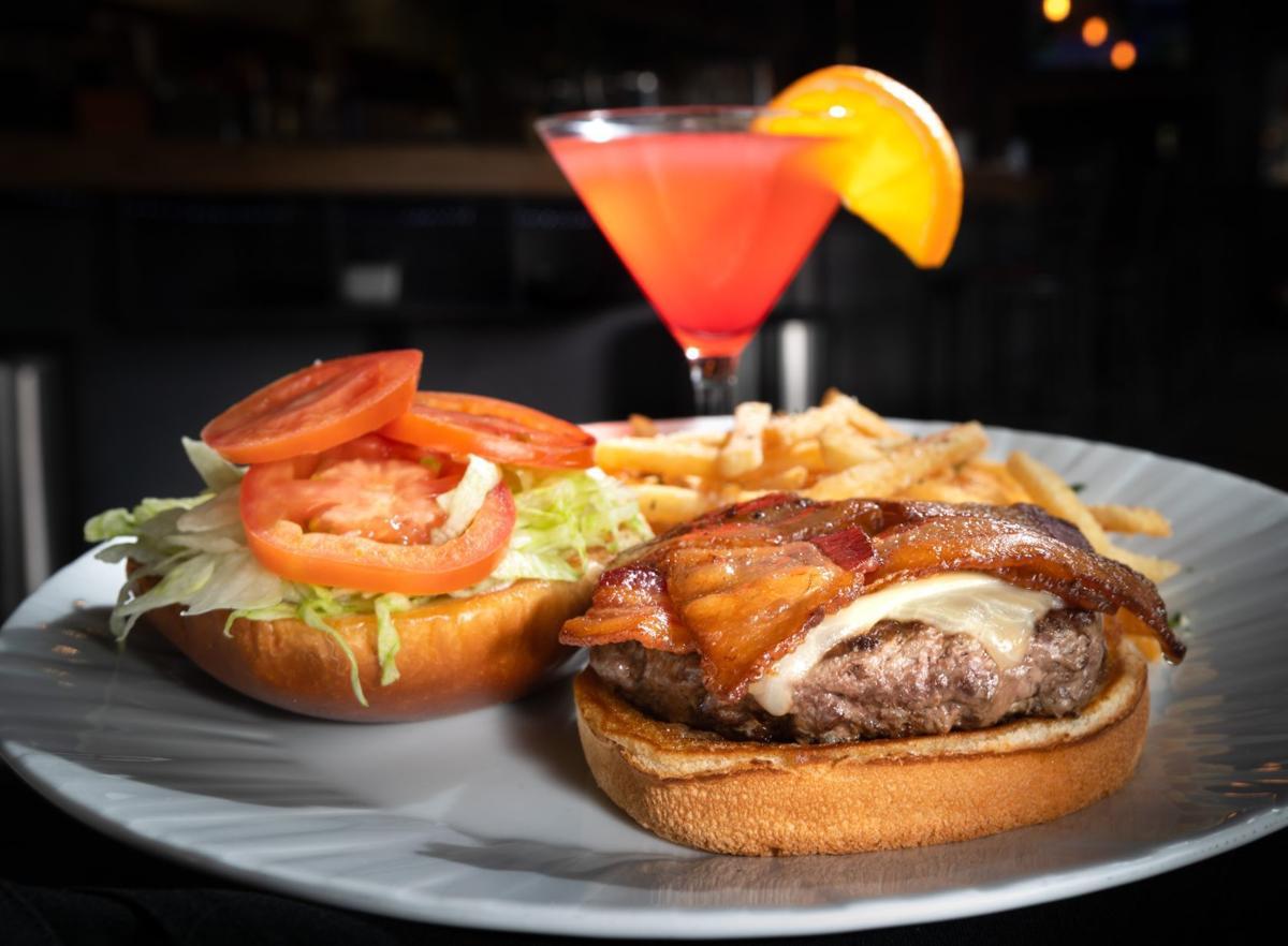 Latticed Bacon Cheeseburger