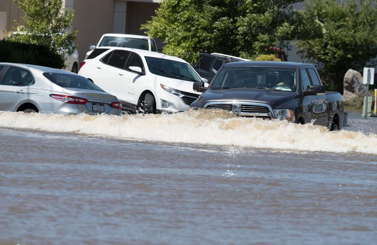Cars caught in floods