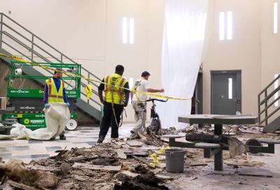 Tecumseh riot damage - showcase