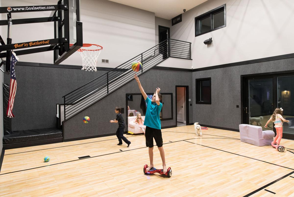 Papillion family s dream house includes a sports court with a