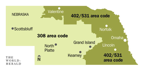 No Specific Towns For New Area Code Money Omahacom - Area code 531