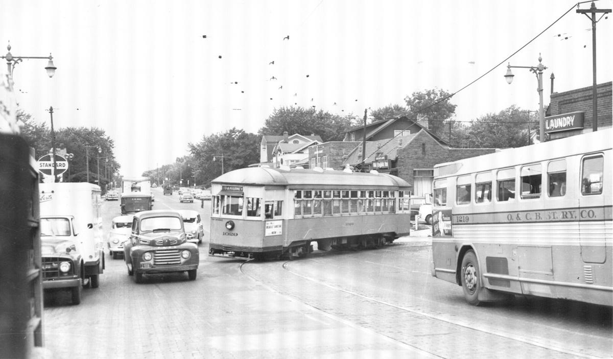 Dundee streetcar in the 1950s